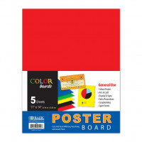 "Multi Color Poster Board, 11"" X 14"", 5 sheets"