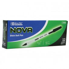 Nova Black Color Stick Pen (12/Box)