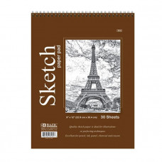 "Top Bound Spiral Premium Sketch Pad, 30 Ct., 9"" X 12"""